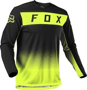 Fox Legion Enduro Offroad Motocross MX Jersey Black Flo Yellow Adults
