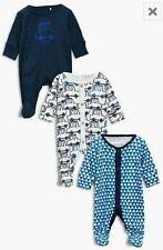 Bebé Niño Nuevo Ex Next Azul Cars 100% Algodón Pelele pijama entero Pequeño