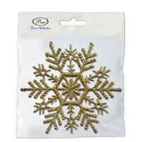 Christmas hanger Snowflake GOLD 10 x 10cm - 6pcs Christmas Decoration Festive