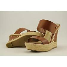 G By Guess Decaf Women US 7.5 Brown Wedge Sandal Pre Owned  1903