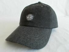 Vans RETRO CHECK COURT Hat *NEW Strapback Cap CHARCOAL GREY Washed FREE SHIPPING