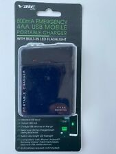 Emergency USB Portable Mobile Charger ,800mA With Flashlight