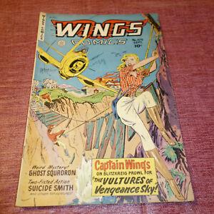 Wings Comics #109 Golden Age Fiction House SEPTEMBER  1949 (kf)