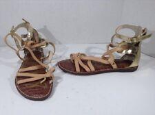 SAM EDELMAN Womens Glinda Brown Leather Gladiator Sandals Shoes Size 7 NS-302