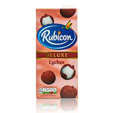 Rubicon - Deluxe Lychee Drink in 1 Liter Packung - Premium Litschi Saft