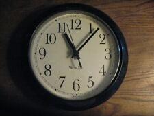 Clock Battery Operated Silent Decorative Modern Round Westclox Black