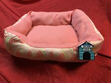 Warm Dog Bed Soft House Kennel Soft Pink Watermelon Pet Cat 21x16x6 Inch