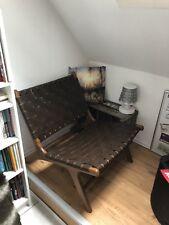 Lounge Sessel Leder Echtholz / Design / Yellow Möbel / Skandi / Retro