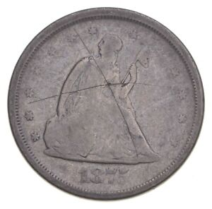 1875-S Seated Liberty Twenty Cents - Charles Coin Collection *360