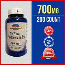 2 X Strength Phytoceramides No Wheat 700mg 200 Caps Wrinkle Remover Quality USA