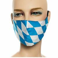 Mundmaske schlichte Muster Bayern Blau Weiss Behelfsmaske Fashion-Maske waschbar