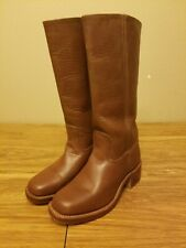Women FRYE boots riding BROWN worn knee high LEATHER SZ 7.5 great condition