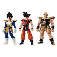 Bandai Dragon Ball Z Shodo Vol4 Son Goku Vegeta Nappa moveable Figurine set NEW