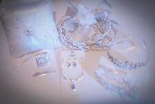 6pcs Wedding Set, wedding rope, coins, garnish, crown necklace set & ring pillow