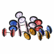 10 Plastic Fake Ear Stretcher Studs Plugs Piercing Earrings 10mm L
