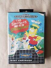 Sega Mega Drive Game - The Simpsons Bart vs The Space Mutants RARE