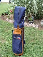 Vintage Gregory Paul Cart Tour Bag US OPEN Collectors Limited Leather Denim