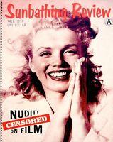 Marilyn Monroe Magazine 1958 Sunbathing Review Fall Andre De Dienes Photo Pinup