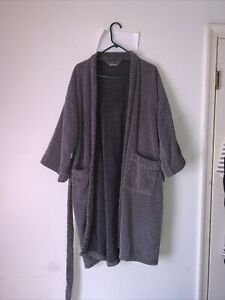 Puritan Men Gray Thick Terry Cloth Wrap-Around w/tie  and Pockets One Size Robe