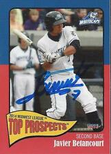 Javier Betancourt 2014 West Michigan WhiteCaps MidWest Top Prospects Signd Card