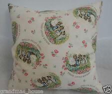 Beatrix Potter Three Little Kittens Nursery Cushion Cover - 40cmx40cm Handmade