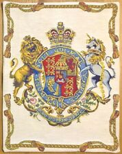 ROYAL COAT OF ARMS OF UK LINED BELGIAN TAPESTRY WITH ROD SLEEVE 60 x 46CM 01818