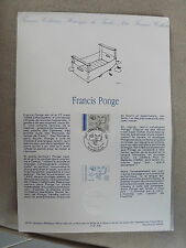 Collection Historique Timbre Poste 1er Jour : 23/02/91 - FRANCIS PONGE