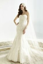Essense Of Australia D1680 Ivory over Oyster Lace Bridal Dress Wedding Gown 12