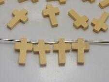 100 Natural Look Wooden Cross Beads Charm 22X15mm Wood Pendants