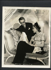 IDA LUPINO WITH FASHION DESIGNER ROBERT KALLOCH CANDID - 1937 DBLWT IN VG+ COND.