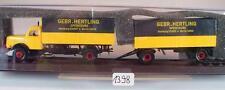 Brekina 1/87 73310 Henschel HS 140 Hängerzug Geb. Hertling Spedition OVP #1398