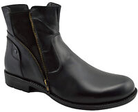 $230 OVATTO Black Calf Leather Ankle Boots Men Shoes NEW COLLECTION