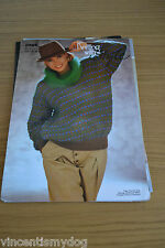 KNITTING WITH STYLE * DK & MOHAIR * ROLL NECK SWEATER KNITTING PATTERN * 0944