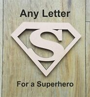 Superhero MDF Wooden Letters & Numbers Choice of Heights 10cm - Large 60cm