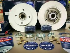 CITROEN C3 C4 DS3 REAR BRAKE PADS & DISCS WITH ABS RING + BEARING *BORG & BECK*