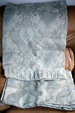 """Dunelm Duck egg blue 'brocade' style heavy, lined Curtains 65"""" long 40.5"""" wide"""
