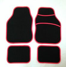 Black & Red Car Mats For Honda Accord Civic Jazz Integra Type R Legend
