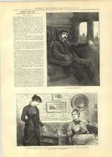 1881 The Curate Smoking In Railway Carriage