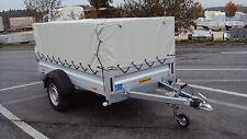 Humbaur HA 132513, ALU- Pkw- Anhänger 1300 kg inkl. Gitteraufsatz und Plane