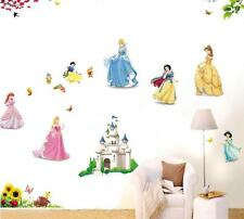 Snow White castle Cartoon Home Decor Removable Wall Sticker Decal Decorations