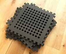 SPORTING SAFETY MATS - - - exercize tiles black square eva foam with holes soft