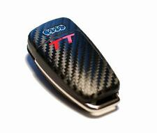 Audi TT 8j carbon fiber style sticker with red TT logo