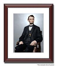 "President Abraham Lincoln 11x14"" Framed Photo Print Color Civil War ID-528388"