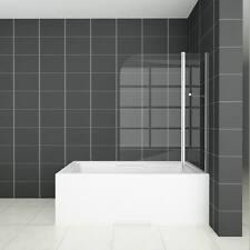 1000X1400mm Chrome 180° Pivot Bath Shower Screen Double Glass Door Panel