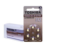 Toshiba Hearing Aid Batteries Size 312 (120 Cells) Brown Tab Made In Japan