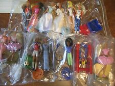 13 McDonald's Happy Meal Barbie Lot Some Vintage/Old with Accessories Stands Dog