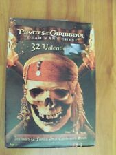 Pirates of the Caribbean Dead Mans Chest 32 Valentines Card 8 Designs NP