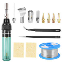 14pc MT-100 Gas Welder Electric Welding Tool Cordless Gas Soldering Iron Kit