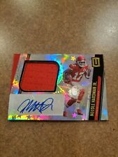 2019 Unparalleled Mecole Hardman RPA Rookie Jersey Patch Auto Astral #'d /150