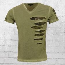 Rusty Neal Männer T-Shirt Camo Slit oliv Herren Nicki